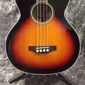 Takamine GB72CE BSB G Series Jumbo Cutaway Acoustic/Electric Bass Gloss Brown Sunburst w/ Flame Maple Back and Sides