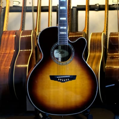 D'Angelico Excel Gramercy Vintage Sunburst All Solid Wood Fishman Deco Grover Imperials OHSC Extras for sale