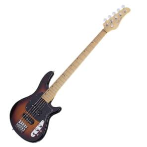 Schecter 2494 CV-5 5-String Bass w/ Maple Fretboard Sunburst