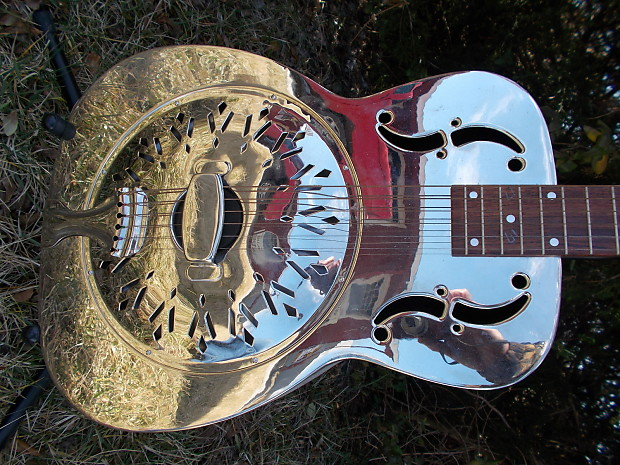 sterling metal body resonator guitar reverb. Black Bedroom Furniture Sets. Home Design Ideas
