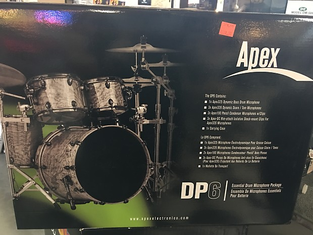 apex dp6 drum mic package reverb. Black Bedroom Furniture Sets. Home Design Ideas