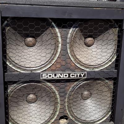 Sound City L412 Guitar Cabinet 1973 black for sale