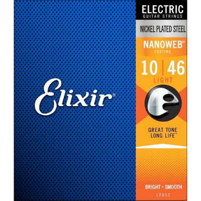 NEW Genuine Elixir USA NANOWEB Nickel Plated Steel 16027 Custom Light .011-.052