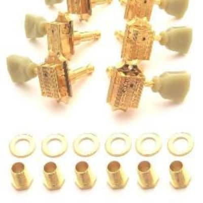 Grover Deluxe 3x3 Guitar Tuning Keys for Gibson-Gold for sale