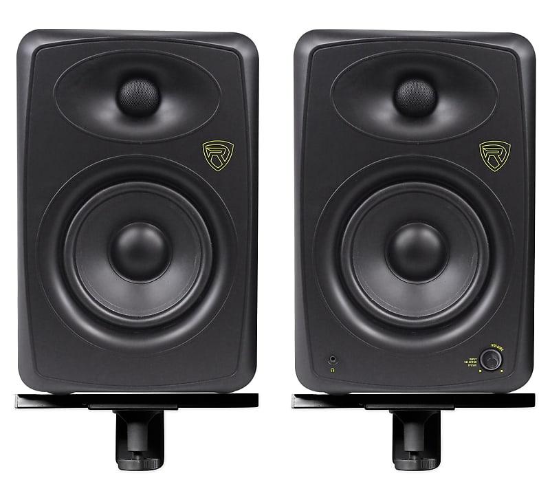pair rockville asm5 5 200w powered usb studio monitor reverb. Black Bedroom Furniture Sets. Home Design Ideas