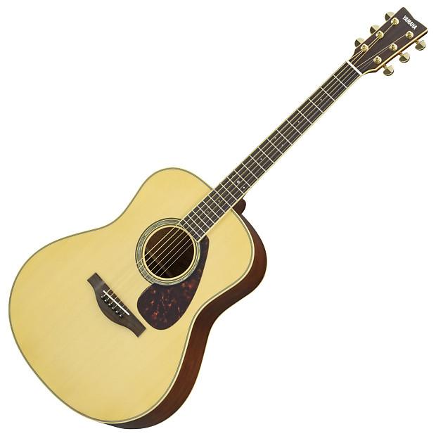 Yamaha ll6m natural l series acoustic electric guitar reverb for Yamaha l series guitars