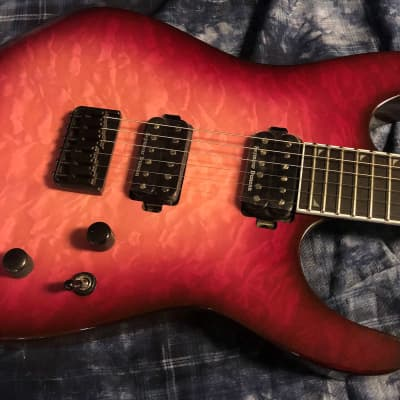 MINT! Jackson Pro Series Soloist SL2Q HT MAH Fuchsia Burst-Authorized Dealer Pro Set Up SAVE!