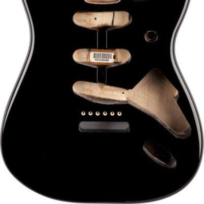 NEW Fender Vintage 60s Stratocaster Replacement BODY Alder, Black 0998003706 image