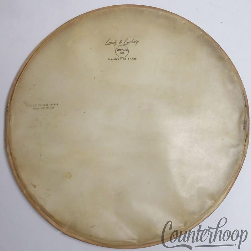 leedy ludwig 14 calf skin snare drum resonant head reverb. Black Bedroom Furniture Sets. Home Design Ideas
