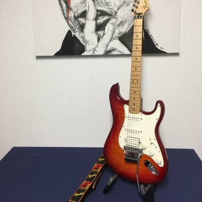 Fender Standard Stratocaster Floyd Rose Plus Top 2016 Aged Cherry Burst for sale