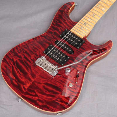 Freedom Custom Guitar Research Custom Order ST Type Black Cherry for sale