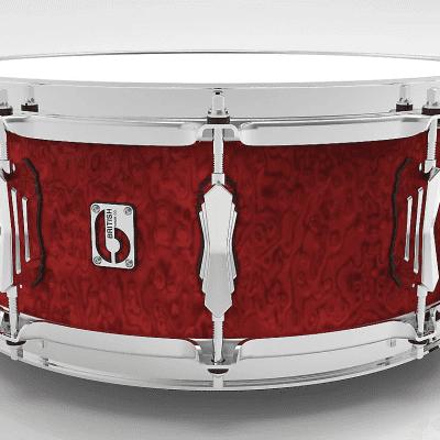 """British Drum Company Legend Series 14x5.5"""" 10-Lug Birch Snare Drum"""