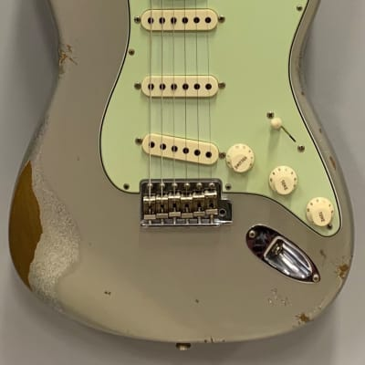 Fender Custom Shop Stratocaster 59 reverse Relic AIS ov SIS 2020 Relic Aged Inca Silver over Silver for sale