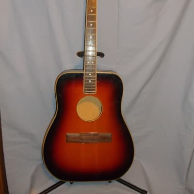 Welson 12 string acoustic 60's - 70's Red Burst - Project/Parts for sale