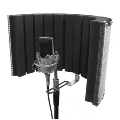 On-Stage ASMS4730 Isolation Shield   Black/Chrome
