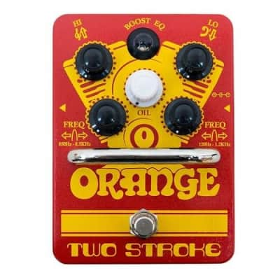 Orange Amplification Two Stroke Boost EQ Effect Pedal  2-Day Delivery