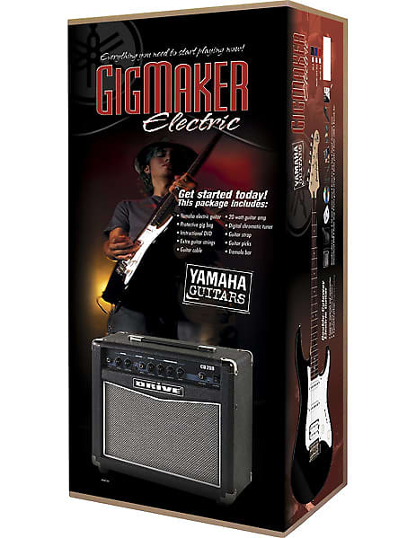 Yamaha Gigmaker Electric Guitar Package W Yamaha Pac012 15 Watt Amp Gig Bag Tuner Guitar Cable Instructional Dvd Strap Extra Strings