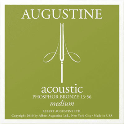 Augustine Acoustic Guitar Strings - Medium Tension - Phosphor Bronze