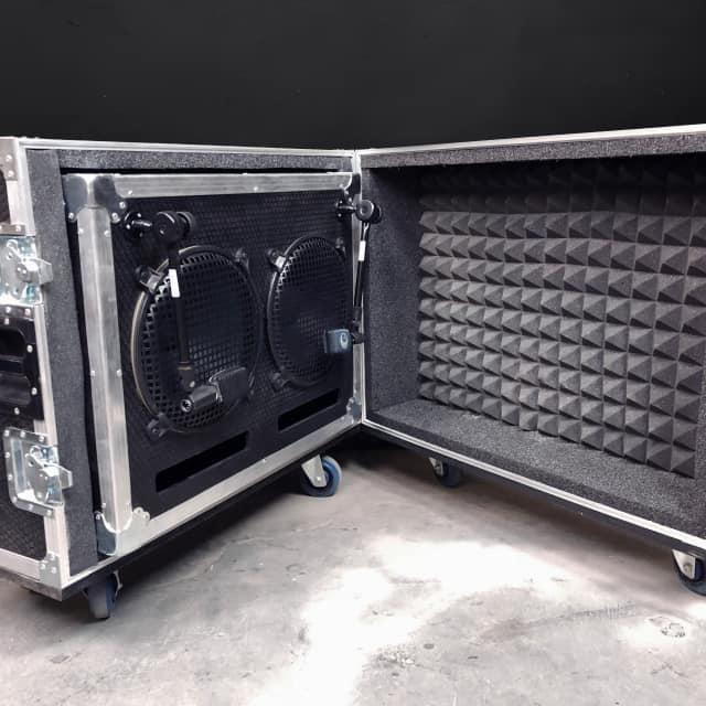 Brady Cases Shock-Mounted Stereo  2x12 ISO Isolation Cabinet ATA Case Aluminum Stucco image