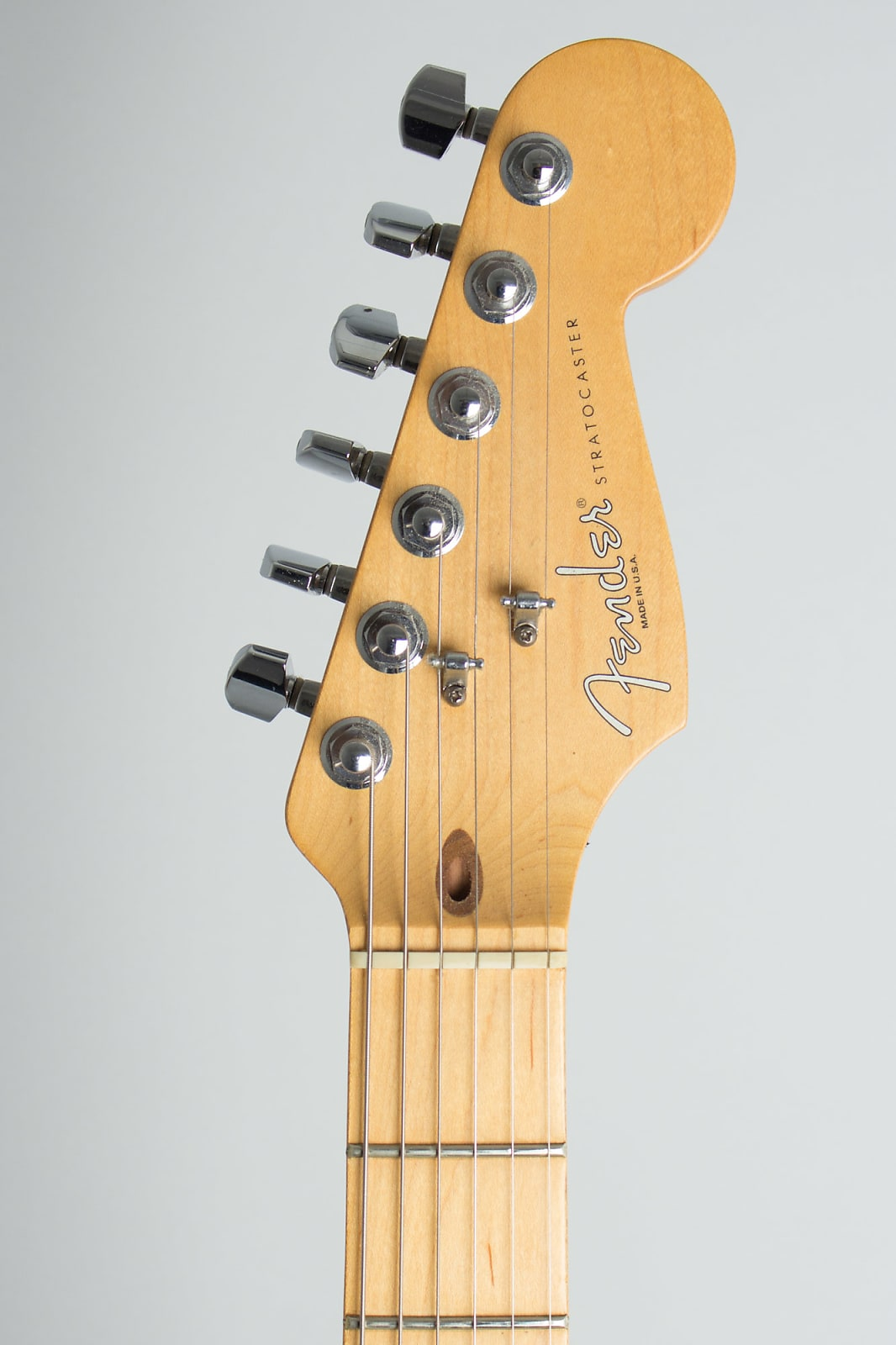 Fender  Stratocaster American Standard Solid Body Electric Guitar (1996), ser. #N6161971, original molded black plastic hard shell case.