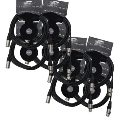 XSPRO XSPDMX3P15 3 Pin DMX Light Cable 15' - 8PAK
