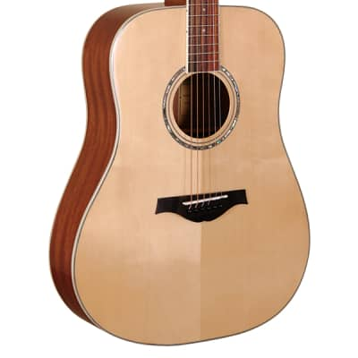Wood Song D-NA Traditional Dreadnought Solid Sitka Spruce Top 6-String Acoustic Guitar - Natural