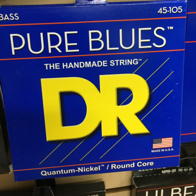 DR PB-45 Pure Blues Bass Guitar Strings - Medium (45-105)
