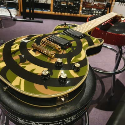 Epiphone Zakk Wylde Gibson Les Paul Custom RARE Limited Edition Camo Bullseye EMG 81/85 Korean MIK for sale