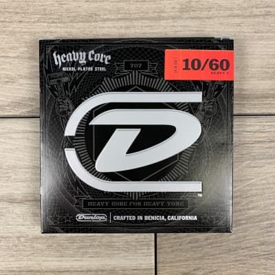 Dunlop Heavy Core Electric Guitar Strings, 10-60, 7-String Set