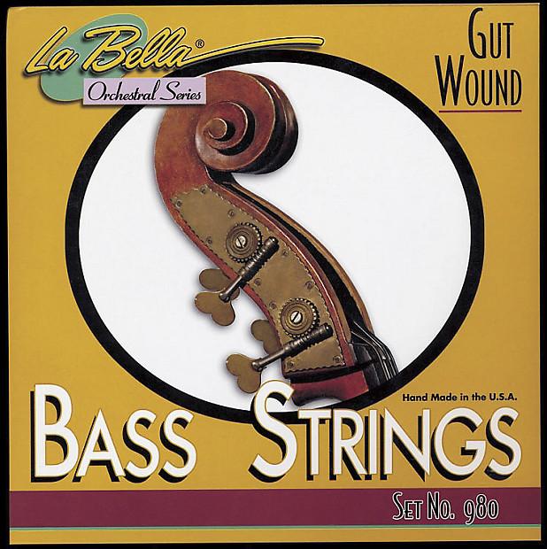 la bella 980 gut upright bass strings guitar audio reverb. Black Bedroom Furniture Sets. Home Design Ideas