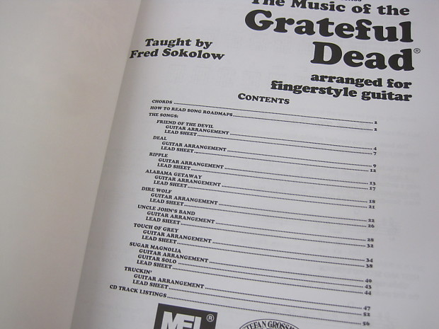 Grateful Dead The Music Of The Cd Sheet Music Song Book Reverb