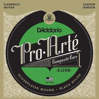 D'addario Pro Arte Classical Guitar Strings EJ25B Composite Flamenco/Black/Normal for sale