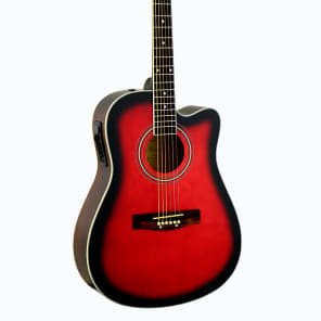 De Rosa GA300CE-RDS Dreadnought Cutaway Basswood Top Maple Neck 6-String Acoustic Guitar for sale