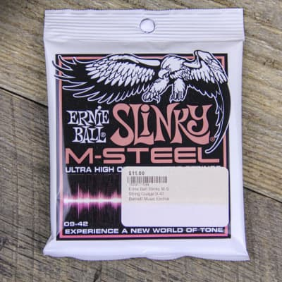 Ernie Ball Slinky M-Steel 09-42 Electric Guitar Strings