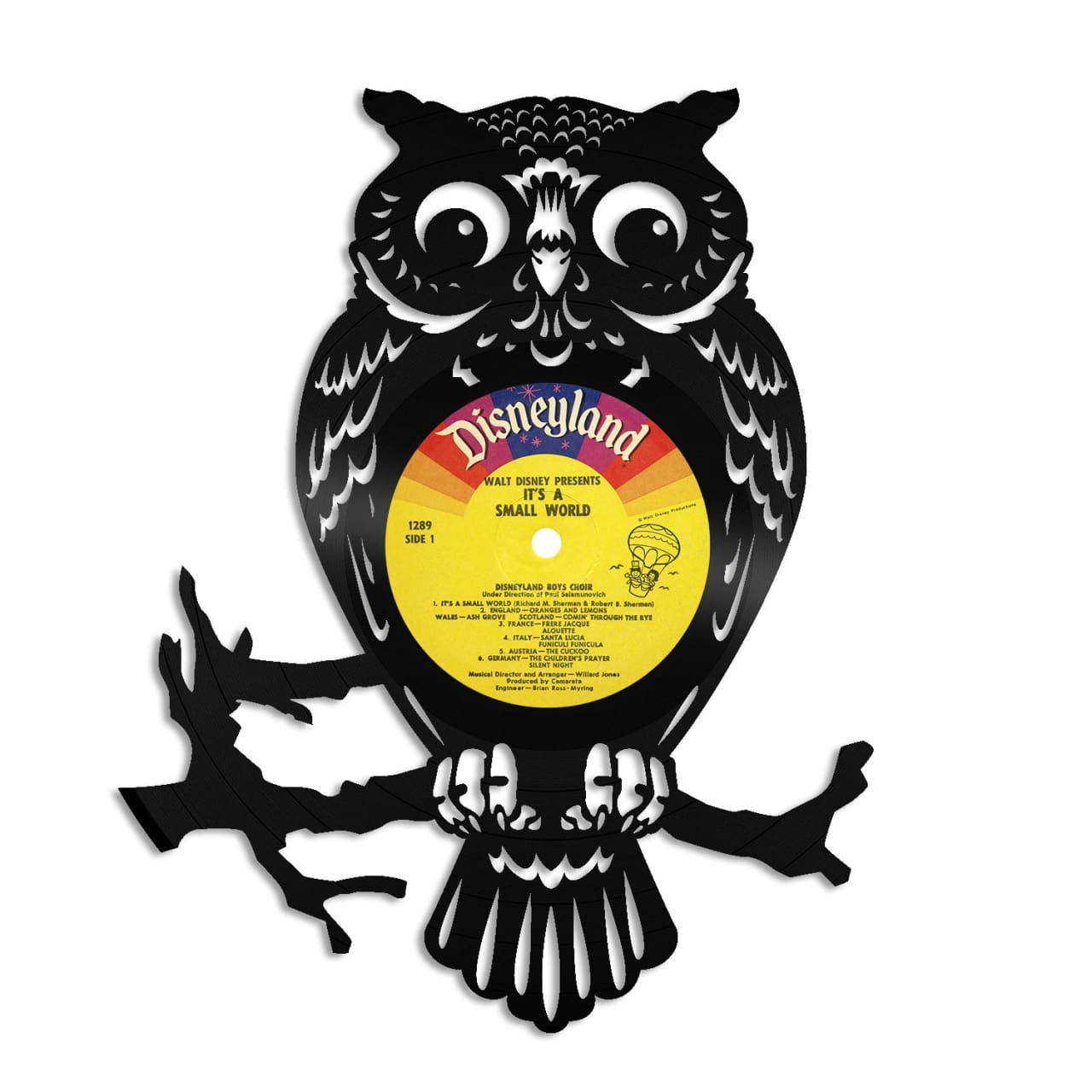 Owl Vinyl Wall Art - Silver / No Frame | VINYLSHOPUS | Reverb