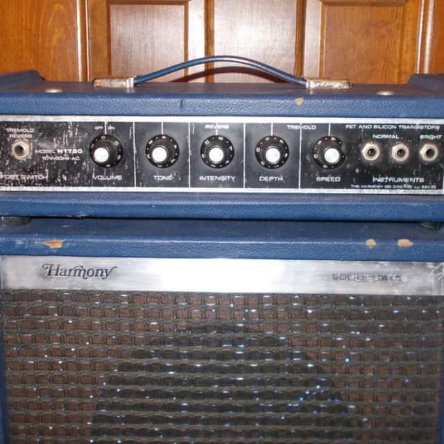 Harmony Model H1720 Piggy Back Amp 1960's Blue Padded Sparkle  *35% Off Amp Sale* image