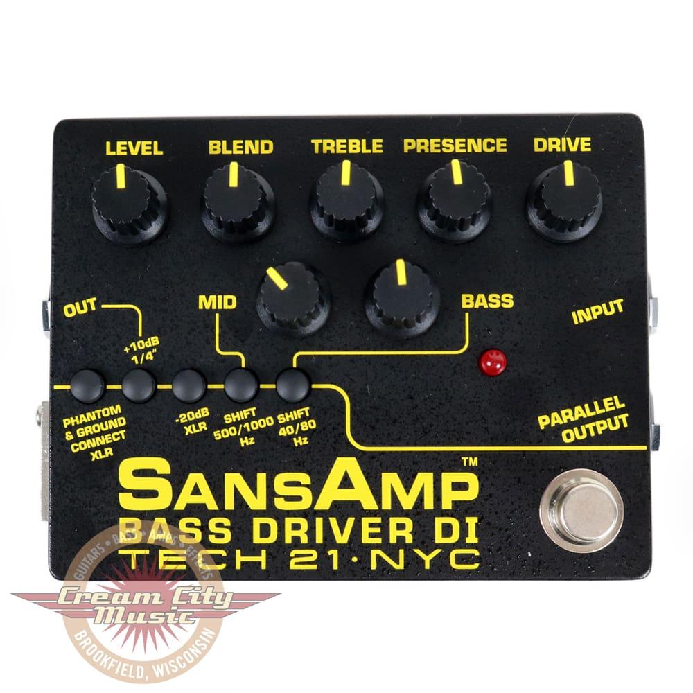 Brand new tech 21 sansamp bass driver di v2 bass direct for 2 aggiunta di box auto