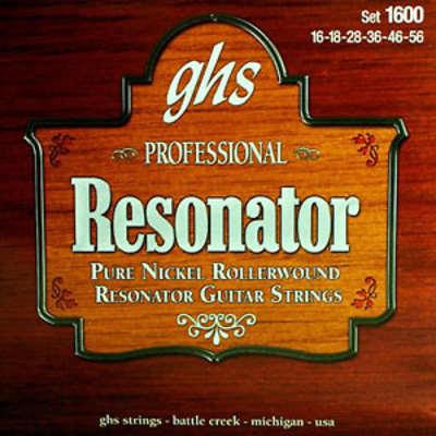 GHS Pure Nickel Resonator Strings 16-56