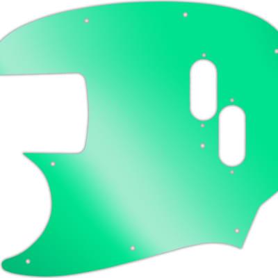 WD Custom Pickguard For Left Hand Fender Mustang Bass Reissue #10GR Green Mirror