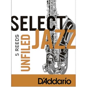 Rico RRS05TSX3S Select Jazz Tenor Saxophone Reeds, Unfiled - Strength 3 Soft (5-Pack)