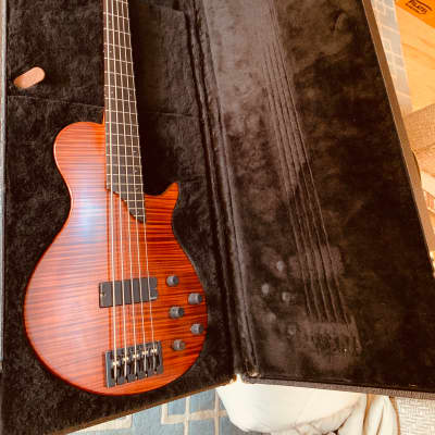Bolin Bass 5 String 2002 Tiger Stripe Wine for sale