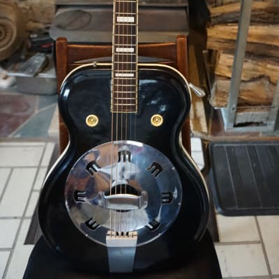 1962-63 Black Supro Valco National Airline resonator guitar for sale