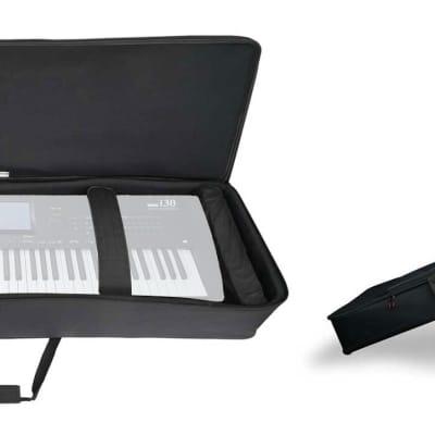 Rockville 61 Key Keyboard Case w/ Wheels+Trolley Handle For Korg i30