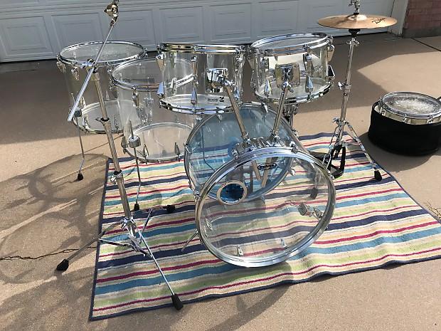 Zickos Snare Drum : 7 piece vintage zickos clear acrylic drum set w matching reverb ~ Hamham.info Haus und Dekorationen