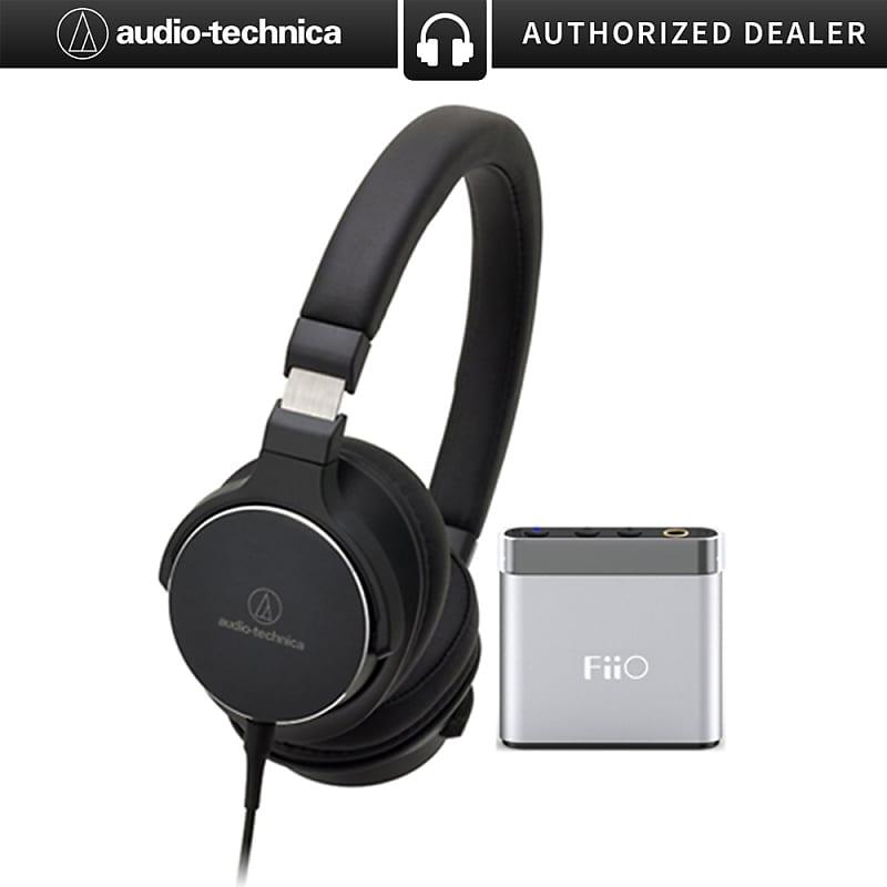 5deda0e2ff2 Audio-Technica SR5 On-Ear High-Resolution Headphones w/ FiiO | Reverb