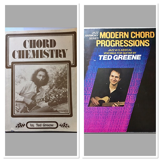 Ted Greene Bundle Chord Chemistry & Modern Chord Progressions books SHIPPED  to Continental US $20
