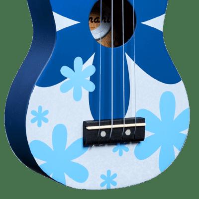 Amahi Penguin Tropical Series Soprano Ukulele - Blue Flower