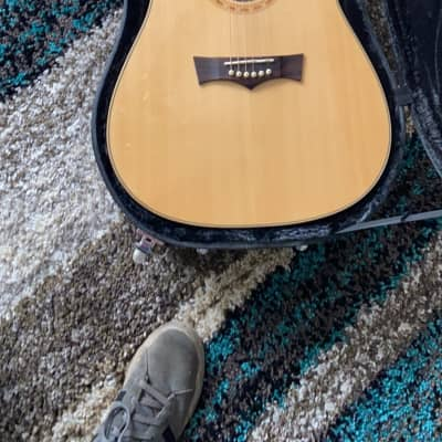 Peavey DW-3 Dreadnought Acoustic/Electric Solid Sitka Spruce Top Guitar w/ Built-In Tuner Natural for sale