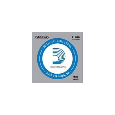 D'Addario Nickel Plain Electric/Acoustic Single String PL018