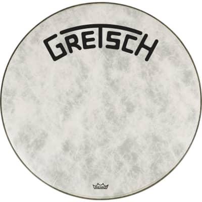 """Gretsch Bass Drum Head Fiberskyn 24"""" w/ Broadkaster Logo"""